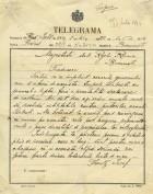Telegrama împaratului Franz Joseph către regele Carol I