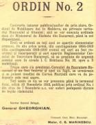Ordin nr. 2 de mobilizare ce stabilește data de 10 noiembrie 1918 ca dată limită de prezentare a contingentelor 1894-1919