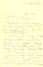 Scrisoare. Dest. T. Pisani. Exp. N. Filipescu (15 aug. 1900); dr. de propr. ''Epoca''
