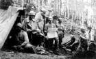 Post de comandă pe frontul din Moldova în Primul Război Mondial