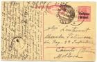 Carte poștală adresată locotenentului Alexandru Peliman din Regimentul 44 Infanterie  - mai 1918 - față