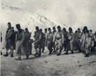 Trupe române în timpul retragerii în Moldova, 1916