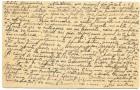 Carte poștală adresată locotentului Alexandru Peliman din Regimentul 44 Infanterie scrisă de soția acestuia în mai 1918 - verso