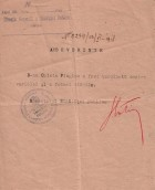 Adeverință medicală emisă C. Plagino, 23.06.1918