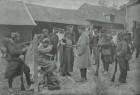 Prizonieri germani primind hrană și apă (Franța, sept. 1914)
