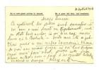 Carte  poștală militară expediată de colonelul Alexandru Stoenescu soţiei Elena, de pe frontul din Dobrogea - 4 septembrie 1916 - text