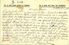 Carte  poștală militară expediată de colonelul Alexandru Stoenescu soţiei Elena, de pe frontul din Dobrogea - 10  septembrie 1916 - textul